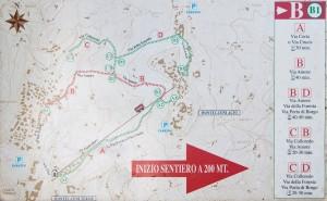 Karte der Wanderwege